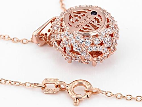 Vanna K™For Bella Luce®7.98CTW Vanna K Cut Diamond Simulant Eterno™Rose Pendant With Chain