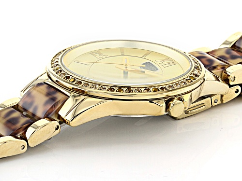 Picard And Cie Casual Leopard Print With Gold Dial Ladies Watch