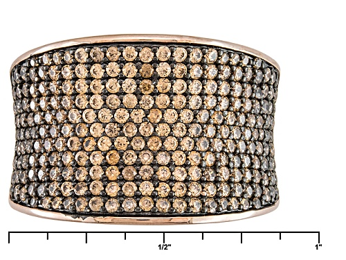 Bella Luce ® 4.17ctw Mocha & White Diamond Simulants Round Eterno ™ Rose Ring (1.87ctw Dew) - Size 6
