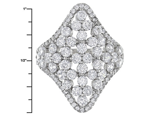 Bella Luce ® 4.99ctw Rhodium Over Sterling Silver Ring (2.96 Ctw Dew) - Size 5
