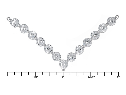 Bella Luce ® 5.85ctw Dillenium White Diamond Simulant Rhodium Over Sterling Silver Necklace - Size 18