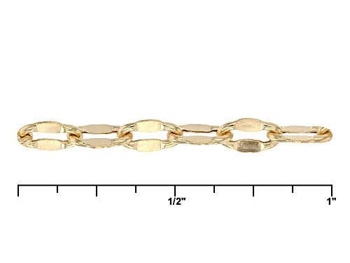 10k Yellow Gold Mirror Oval Rolo Link With Curb Link 32 Inch Necklace - Size 32
