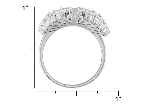 Bella Luce ® 10.00ctw Rhodium Over Sterling Silver Ring (6.36ctw Dew) - Size 8