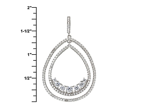 Bella Luce ® 2.72ctw Rhodium Over Sterling Silver Pendant With Chain