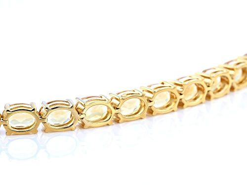 21.15ctw Oval Citrine 18k yellow gold over sterling silver Tennis Bracelet - Size 7.25