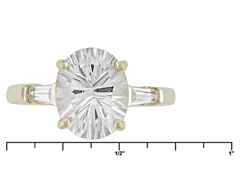 2.30ct Oval Danburite With .24ctw White Zircon 10k Yellow Gold Ring - Size 9