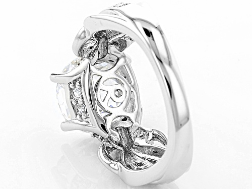 Bella Luce® 6.95ctw White Diamond Simulant Rhodium Over Sterling Silver Ring - Size 11