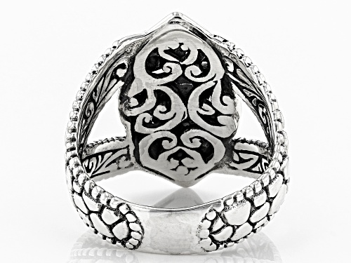 Artisan Collection Of Bali™ Sterling Silver Textured Swirl Ring - Size 7