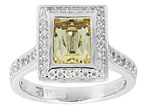 Tycoon For Bella Luce ® 5.19ctw Baguette & Round Platineve ™ Ring (3.28ctw Dew) - Size 12