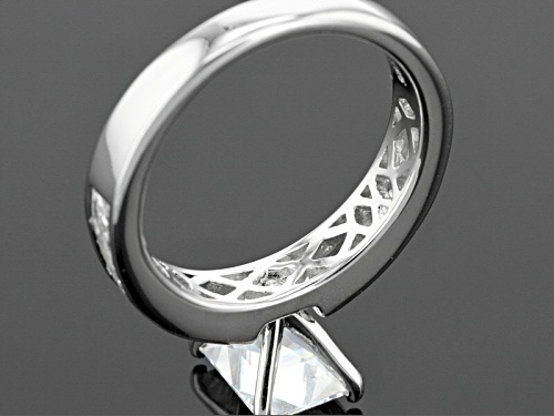 Tycoon For Bella Luce ®  4.55ctw Baguette, Square, & Round Platineve Ring (2.74ctw Dew) - Size 8