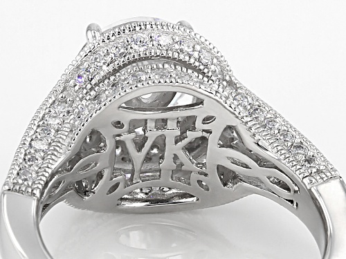 Vanna K ™ For Bella Luce ® 5.40ctw Platineve ™ Ring (3.76ctw Dew) - Size 10
