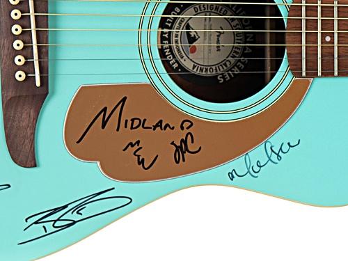 Back The Beat: 2019 CMA Fest Autographed Fender Guitar Aqua Blue