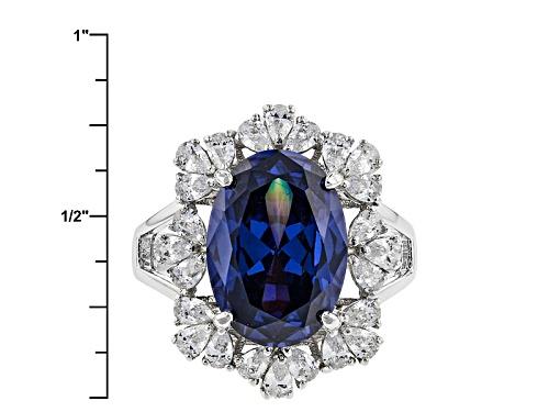 Charles Winston For Bella Luce ® Tanzanite & White Diamond Simulants Rhodium Over Sterling Ring - Size 11