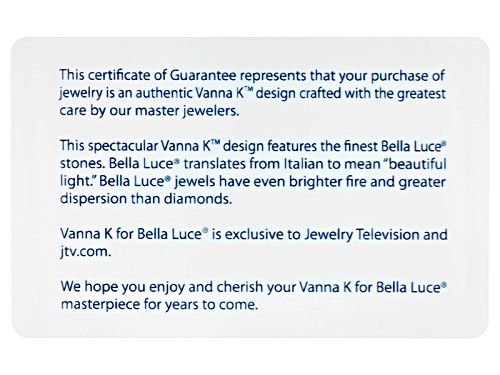 Pre-Owned Vanna K ™ For Bella Luce ® 12.91ctw White Diamond Simulant Platineve® Ring (7.18ctw Dew) - Size 5