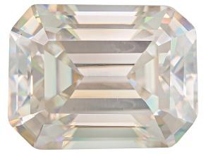 White Strontium Titanate Lab Created 9x7mm Emerald Cut 3.25ct