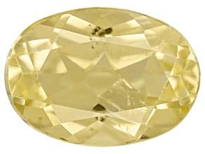 Yellow Apatite .80ct Minimum 7x5mm Oval