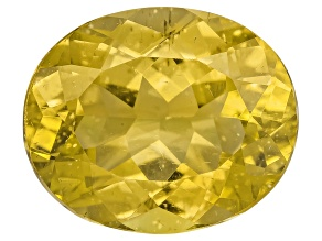 Yellow Apatite 12x10mm Oval 4.75ct