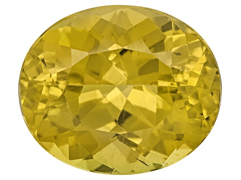 Yellow Apatite 12x10mm Oval 5.50ct