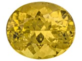 Yellow Apatite 12x10mm Oval 6.00ct