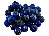Parcel Pakistan Lapis Lazuli Average 47.34ctw 5.5mm Round Bead Cut
