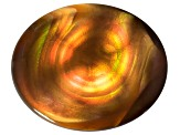 Multi Color Mexican Fire Agate 11x9mm Oval Cabochon