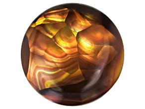 Multi Color Mexican Fire Agate 9mm Round Cabochon