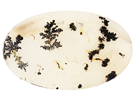 Dendritic Agate 69x42.5mm Oval Tablet 73.74ct