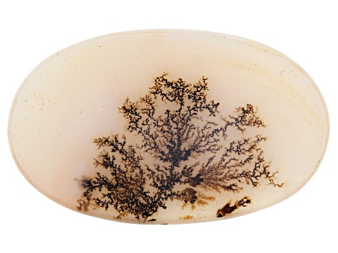 Dendritic Agate 54x33mm Oval Tablet 42.89ct