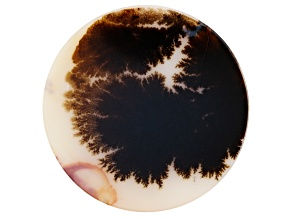 Dendritic Agate 45mm Round Tablet 29.53ct