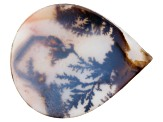 Dendritic Agate 36x29mm Pear Shape Tablet 18.36ct