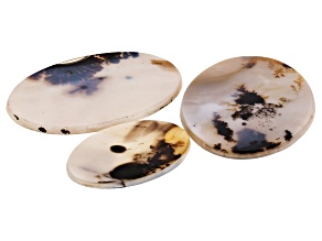 Dendritic Agate Oval Cabochon Set of 3 101.10ctw