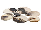 Dendritic Agate Mixed Shape Cabochon Set of 7 86.09ctw