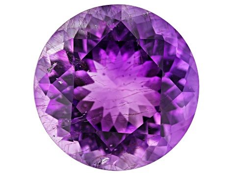 Moroccan Amethyst w/needles 12.14ct 15.5mm Round