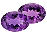 Amethyst 14x10mm Oval Pair 9.70ct