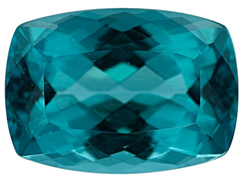 Paraiba Color Apatite 14x10mm Rect Cushion 7.28ct