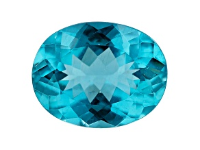 Paraiba Color Apatite 13.7x10.75mm Oval 5.89ct