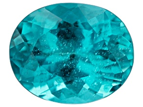 Paraiba Color Apatite 11.3x9.2mm Oval 4.20ct