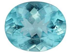 Paraiba Color Apatite 11.3x9.3mm Oval 3.44ct