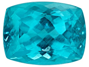 Paraiba Color Apatite 12.23ct 16x12mm Rec Cush