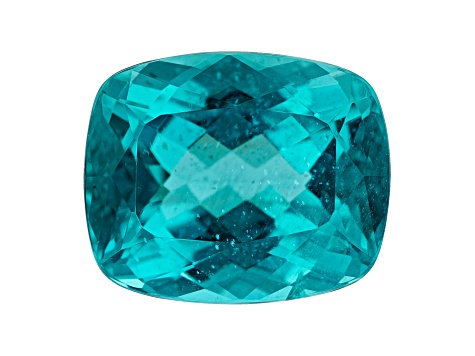 Paraiba Color Apatite 9.23ct 14x11.5mm Rec Cush