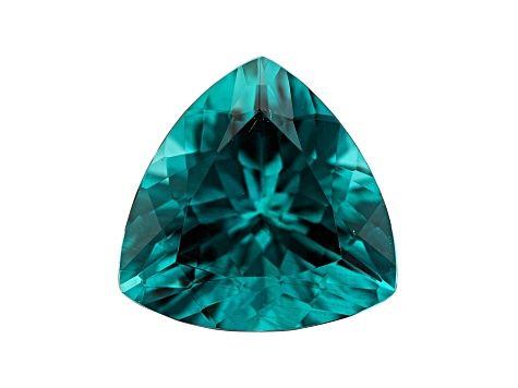 Paraiba Color Apatite 7.96ct 14mm Triangle