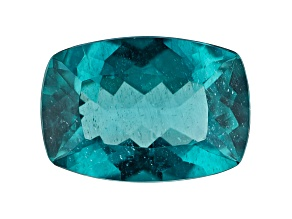 Paraiba Color Apatite 5.13ct 14x10mm Rec Cush