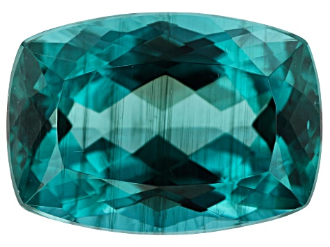 Paraiba Color Apatite 7.12ct 14x10mm Rec Cush