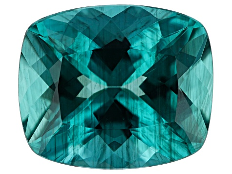 Paraiba Color Apatite 4.99ct 12x10mm Rec Cush