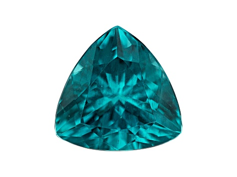 Paraiba Color Apatite 4.13ct 11mm Triangle