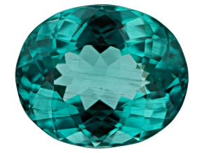 Paraiba Color Apatite 4.96ct 11.5x9.5mm Oval