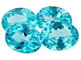 4.28ct Paraiba Color Apatite Varies mm Set Of 4 Oval