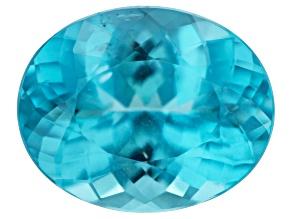 Paraiba color Apatite 14x11.2mm Oval 6.78ct