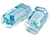 AQUAMARINE PAIR OF VIETNAMESE UNTREATED  CRYSTALS 4.03CTW