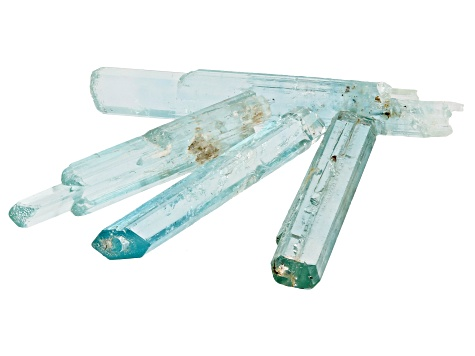 AQUAMARINE SET OF 4 VIETNAMESE UNTREATED  CRYSTALS 26.47CTW